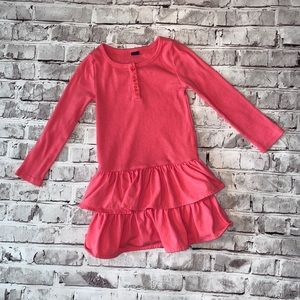 (Baby Gap) Coral ruffle dress -3T